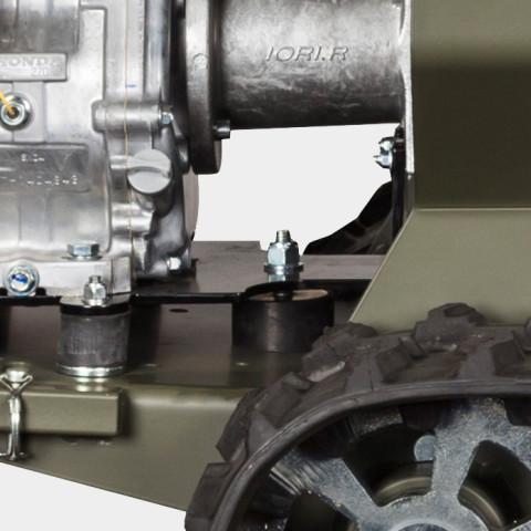 Trägerplatte und Verbindung Motor-Pumpe