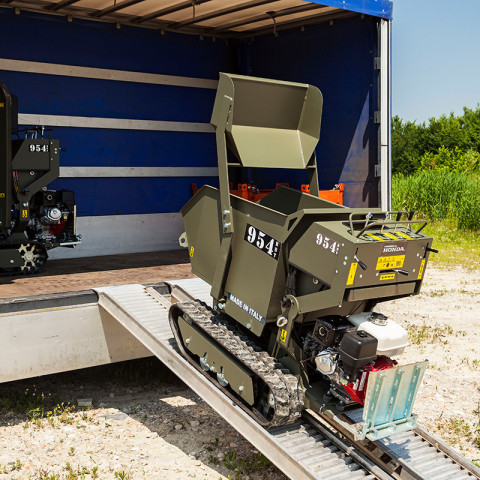 Minitransporter Cingolato con Dumper e Pala Autocaricante